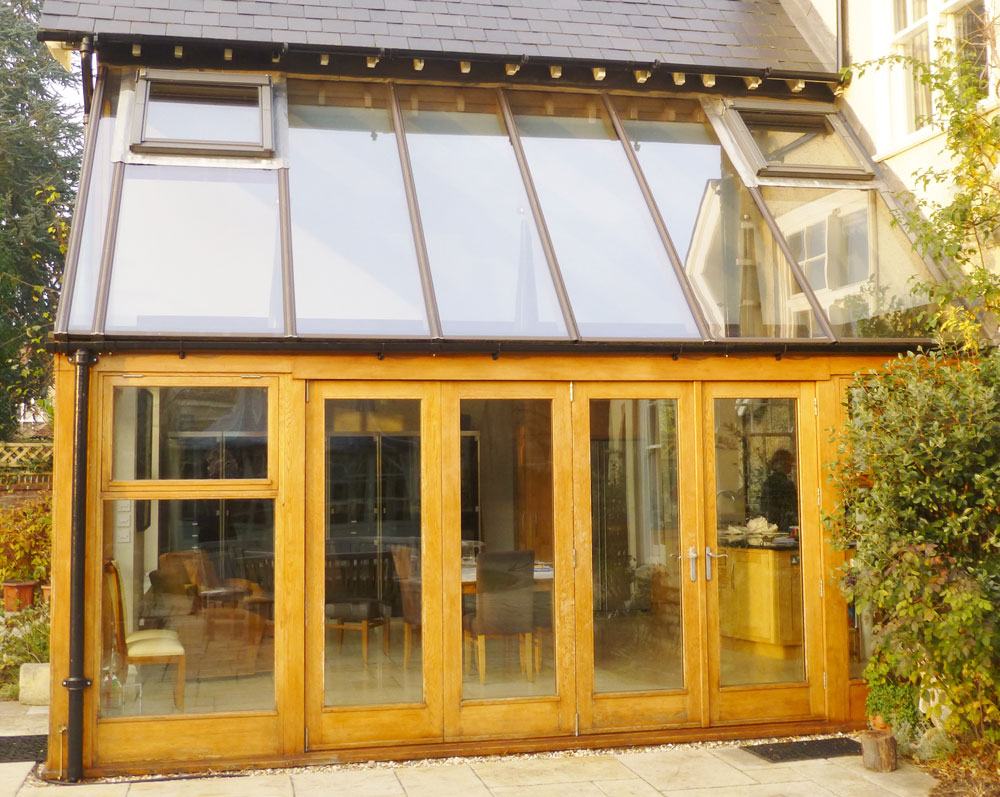 Gelder joinery bespoke architectural joinery in oxfordshire for Conservatory doors exterior